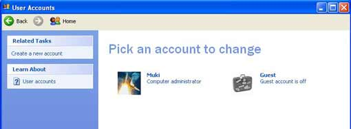 Pick an account to change