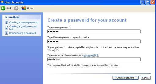 Type a new password