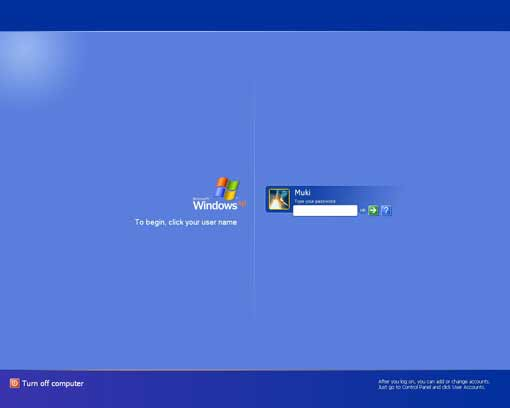 Windows XP Login